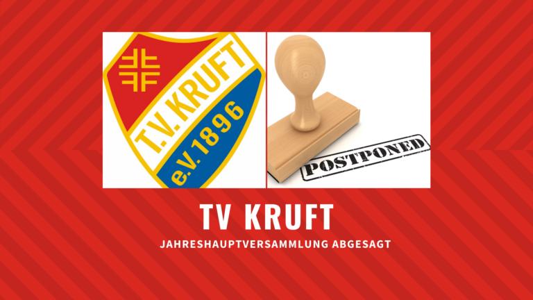 Jahreshauptversammlung des TV 1896 Kruft e.V. verschoben